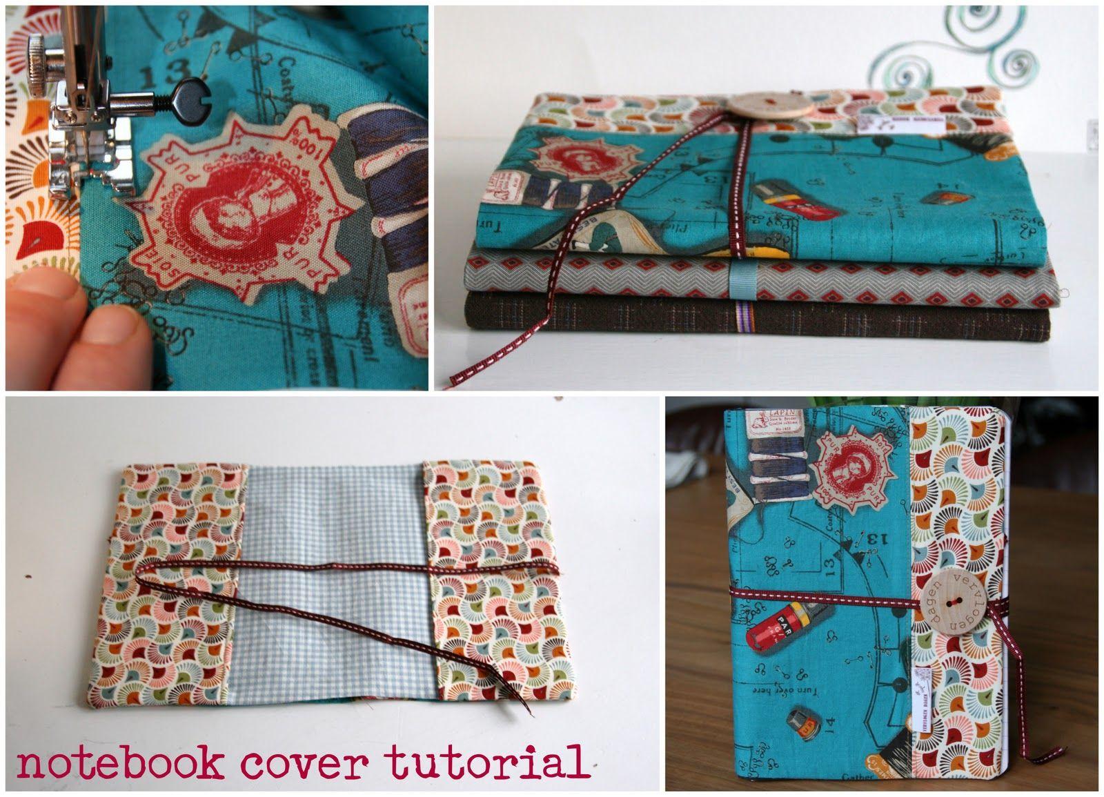 Handmade Fabric Book Cover Tutorial : Vervlogendagentutorials fabric covered notebook tutorial