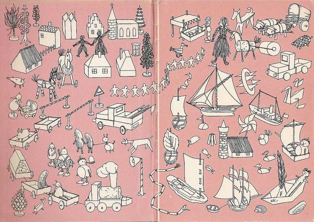 vintage 60s toy illustration