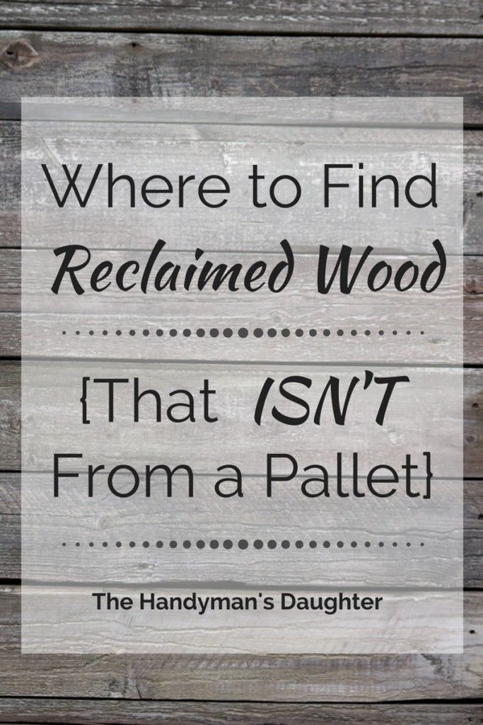 Where to Find Reclaimed Wood {That Isn't From a Pallet - Where To Find Reclaimed Wood {That Isn't From A Pallet Resorts