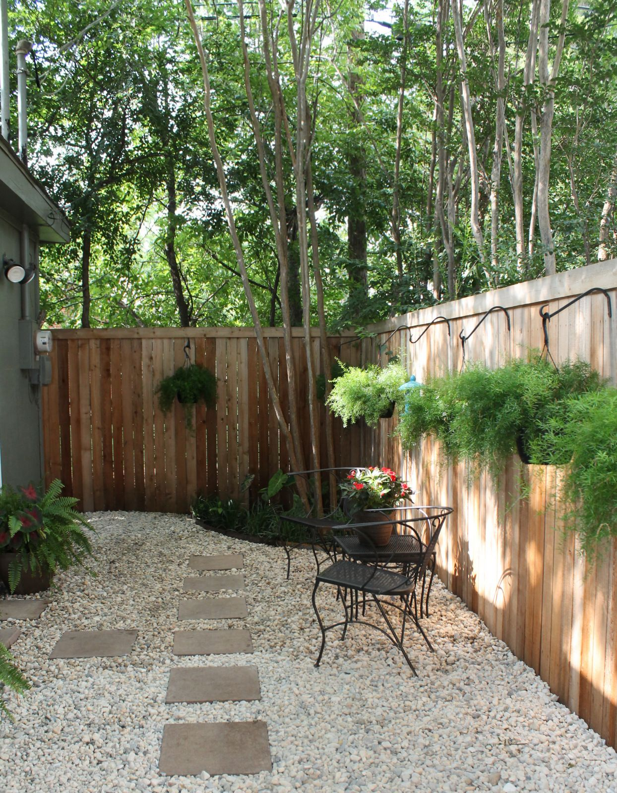 "Garden Ideas To Replace Grass update: rocks added to back ""yard"" space to replace mulch. (no"