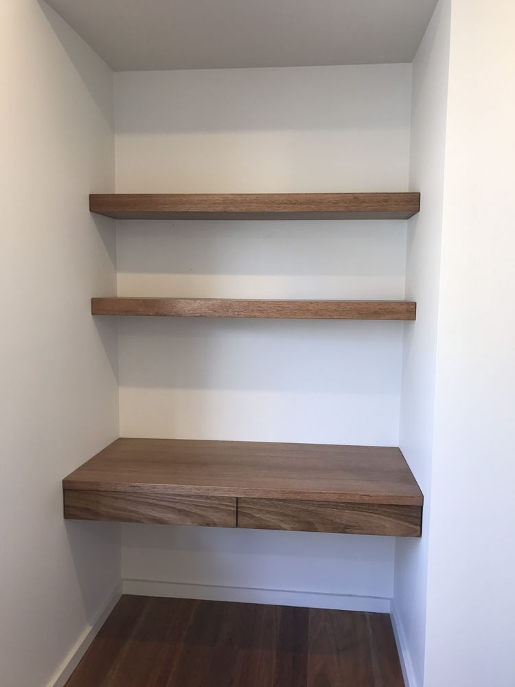 australian made tassie oak hardwood timber wall mounted study nook