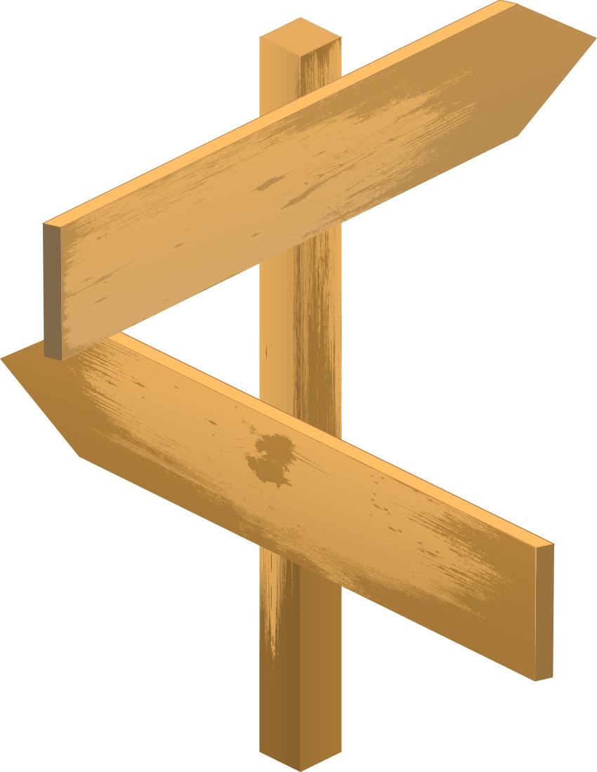 Wooden Blank Arrow Sign