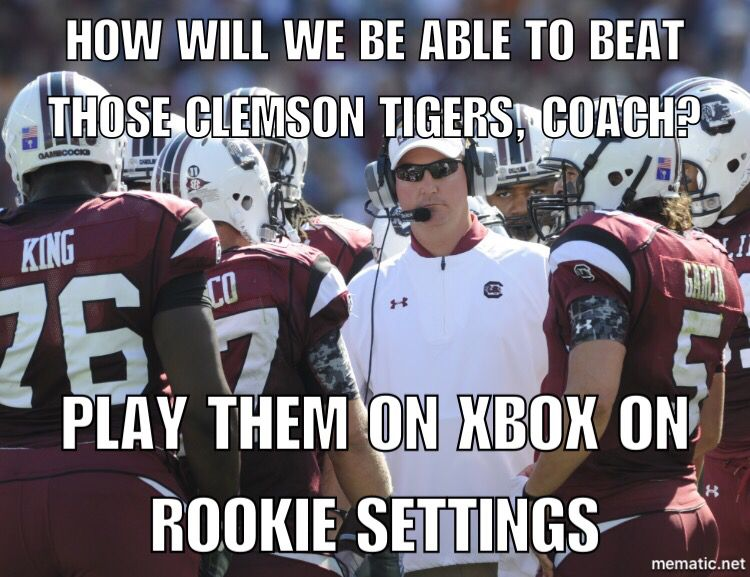 Clemson Vs Gamecocks Clemson Alumni Clemson Tigers Football Clemson Memes