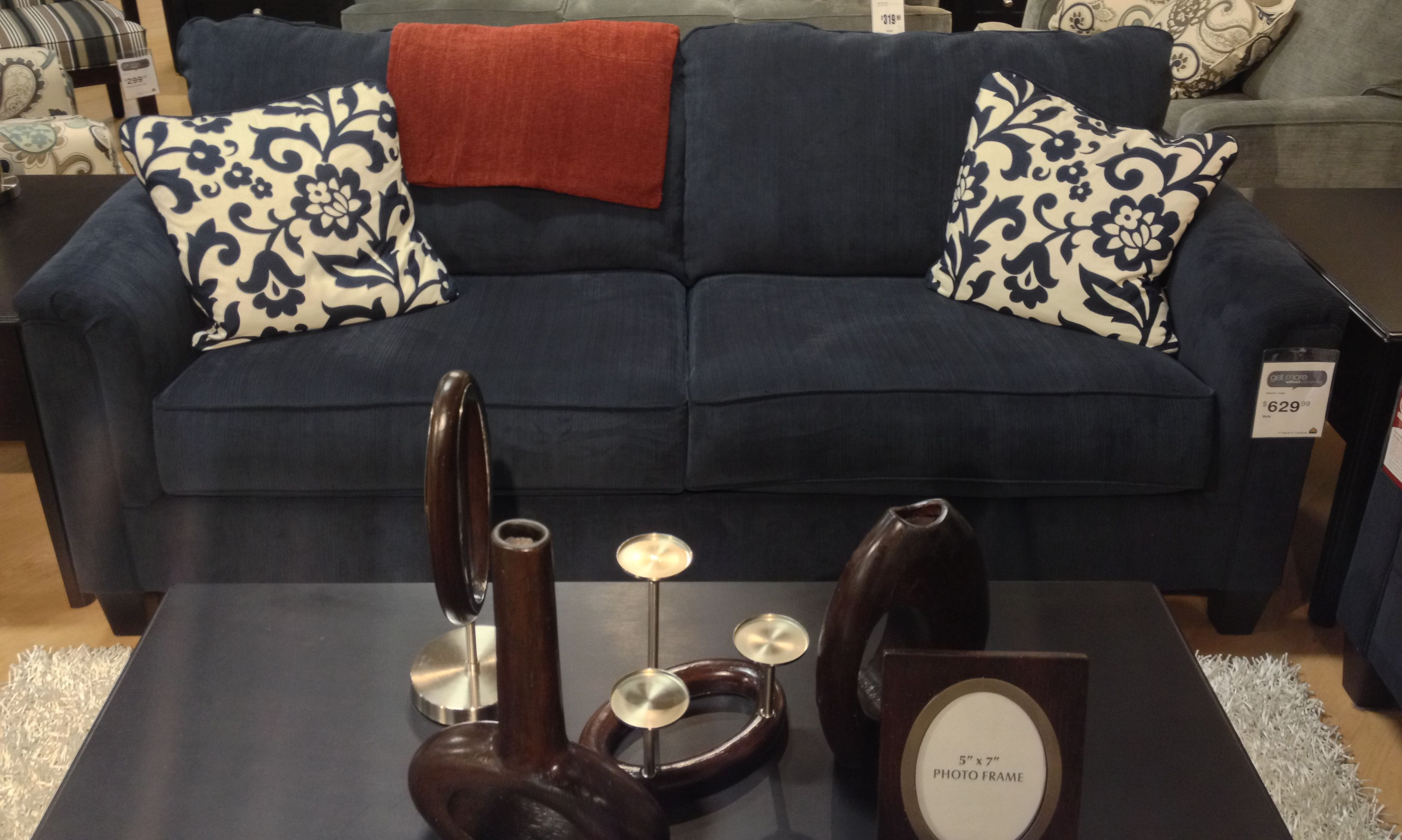 Marvelous Keendre Indigo Sofa At Ashley Furniture In Tricities Home Interior And Landscaping Eliaenasavecom