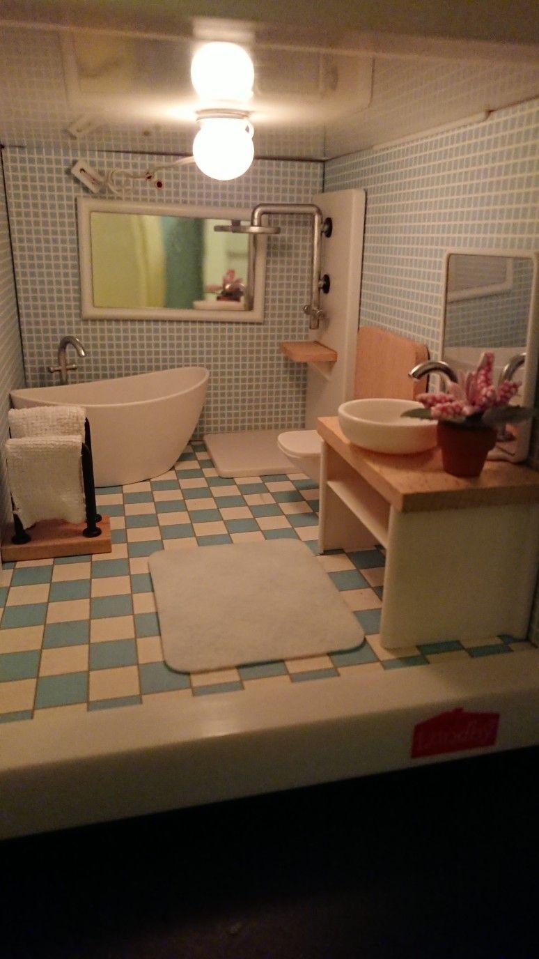 Lidl dollhouse bathroom furniture in lundby smaland dollhouse