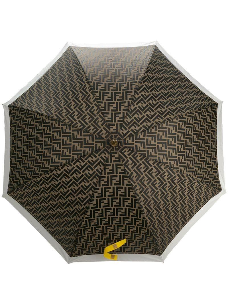 Fendi Ff Motif Umbrella Green Fendi Umbrella Graphic Motif