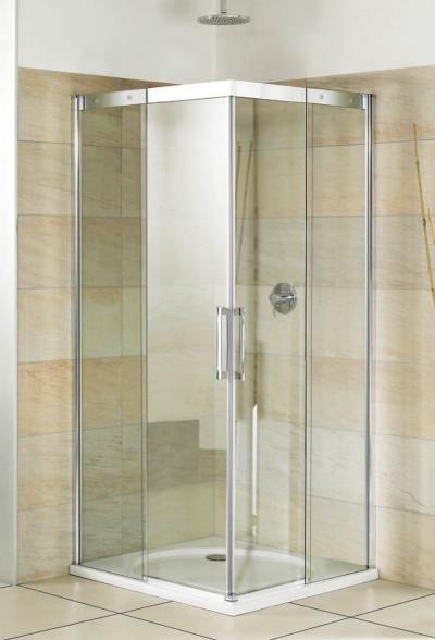 Breuer Panorama Diagonaleinstieg 2-teilig mit Schiebetüren - schiebetüren für badezimmer