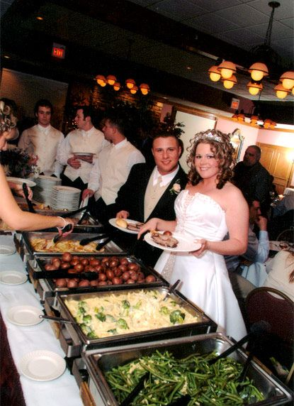 how to set up a wedding reception buffet | Table Decoration during a ...