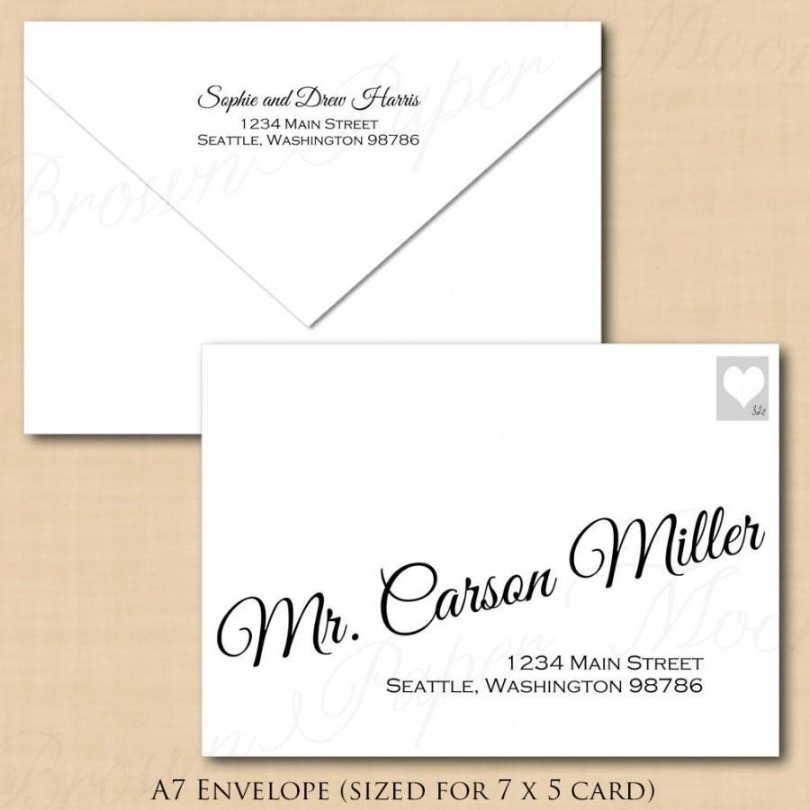 Microsoft Word A7 Envelope Template Change All Colors Calligraphy Addres Envelope Addressing Template Wedding Invitation Envelopes Addressing Envelopes Wedding Microsoft word a7 envelope template