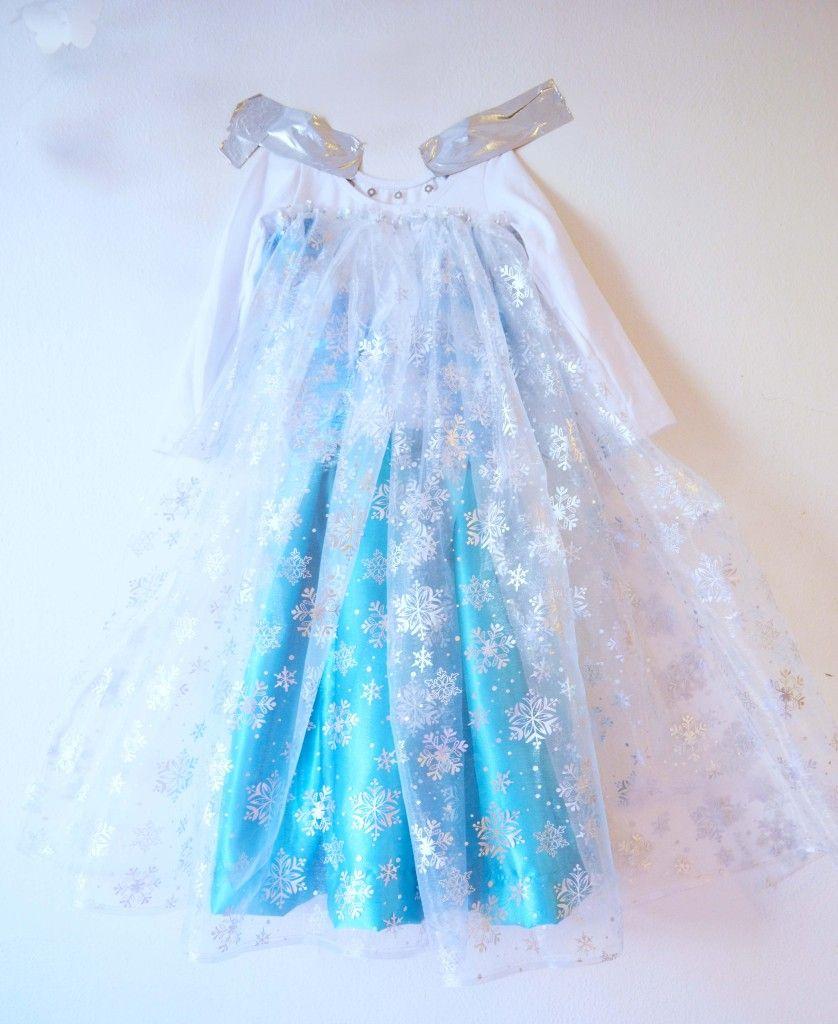 Elsa dress long cape