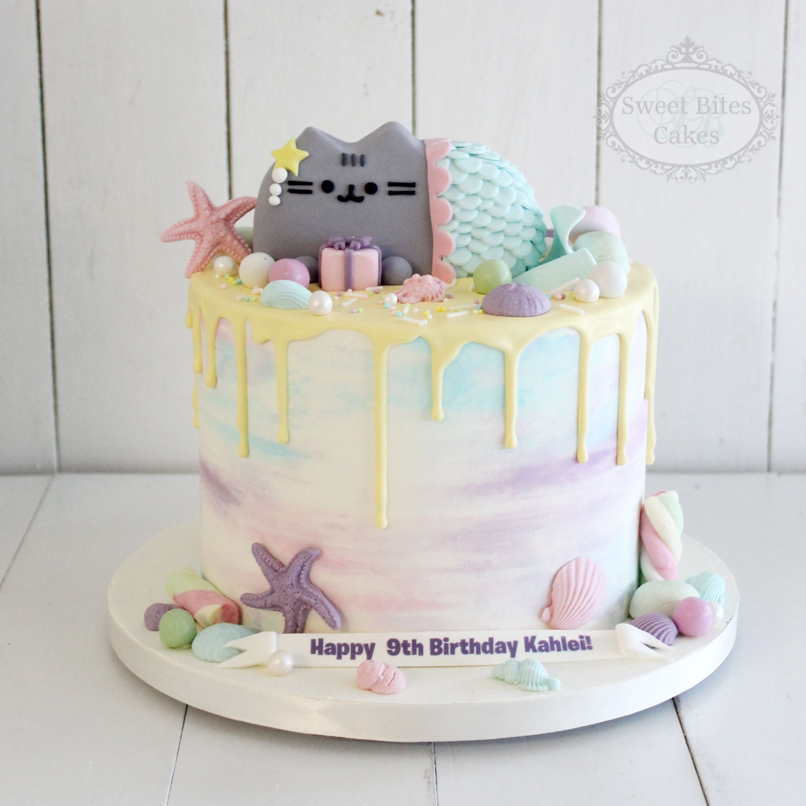 Pusheen Pastel Mermaid Cake Birthday Cake For Cat Cat Cake Pusheen Cakes