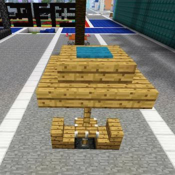 Minecraft Outdoors Table Minecraft ideas Pinterest Minecraft