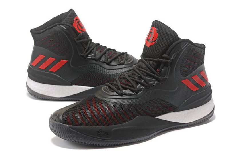 d425053c38fe Adidas D Rose 8 Viii Bred Black Sport Red fashion shoes 2018 Sneaker ...