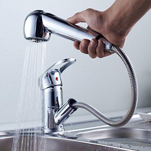Auralum® Mitigeur monocommande robinet robinet de cuisine Robinet - mitigeur cuisine avec douchette extractible
