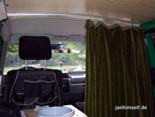 vorhang im t4 fahrerhaus t4 camping pinterest vw t4. Black Bedroom Furniture Sets. Home Design Ideas