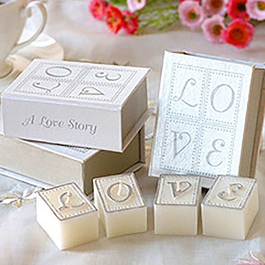 Love Wedding Candle Favors White Graft Holder Gift Bougies Et ...