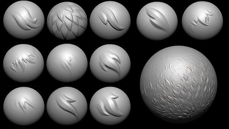 Fur Brushes | tutorials and resources | Zbrush, Drawings, 3d