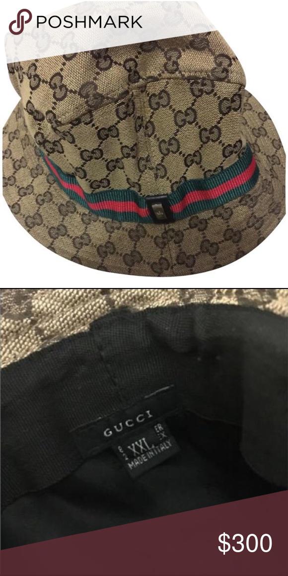 f611f60b402c4 Authentic Vintage Gucci Bucket Hat Authentic Vintage Gucci Bucket Hat Size  XXL but fits like XL Gucci Accessories Hats