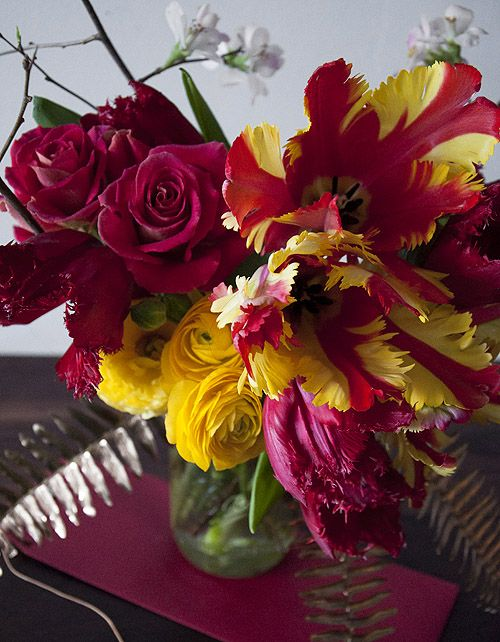 chinese new year inspired arrangement the flowers pinterest rh pinterest com