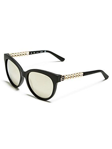 987d923bd1fe GUESS Womens Round ChainTrim Logo Sunglasses     More info could be found  at the image url.