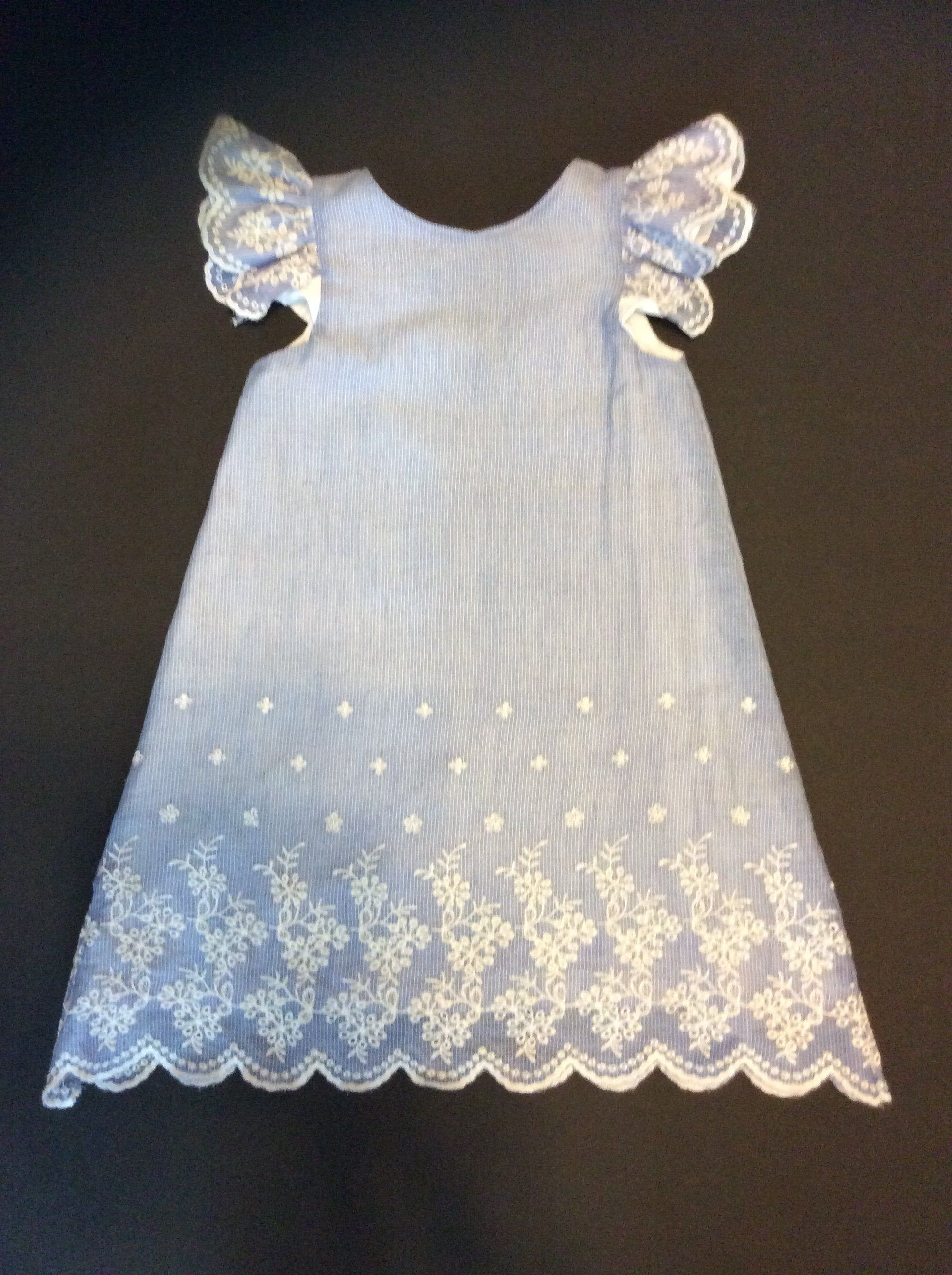 A Line Toddler Dress In A Soft Blue And White Stripe Chambray Etsy Toddler Dress Girls Lace Dress Casual Dresses For Women [ 2592 x 1936 Pixel ]