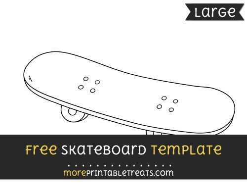 free skateboard template large