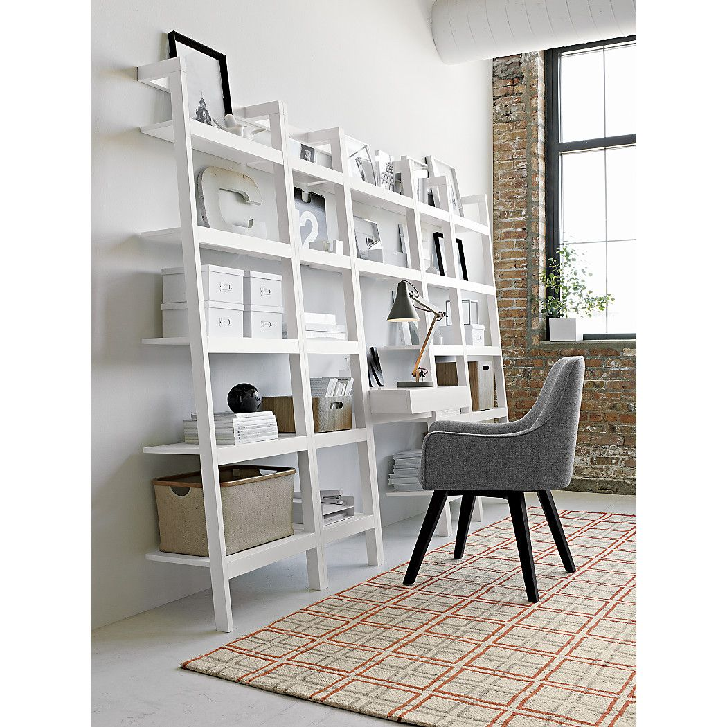 Sawyer white leaning 24 5 bookcase crate and barrel