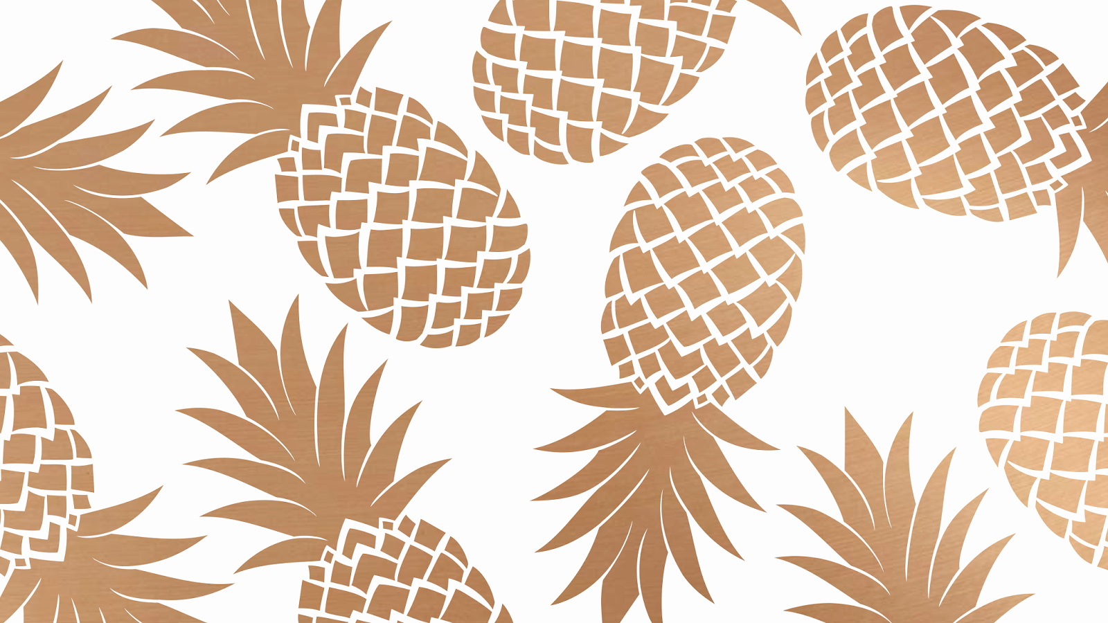 Oh So Lovely Pretty Pineapple Desktop Wallpapers