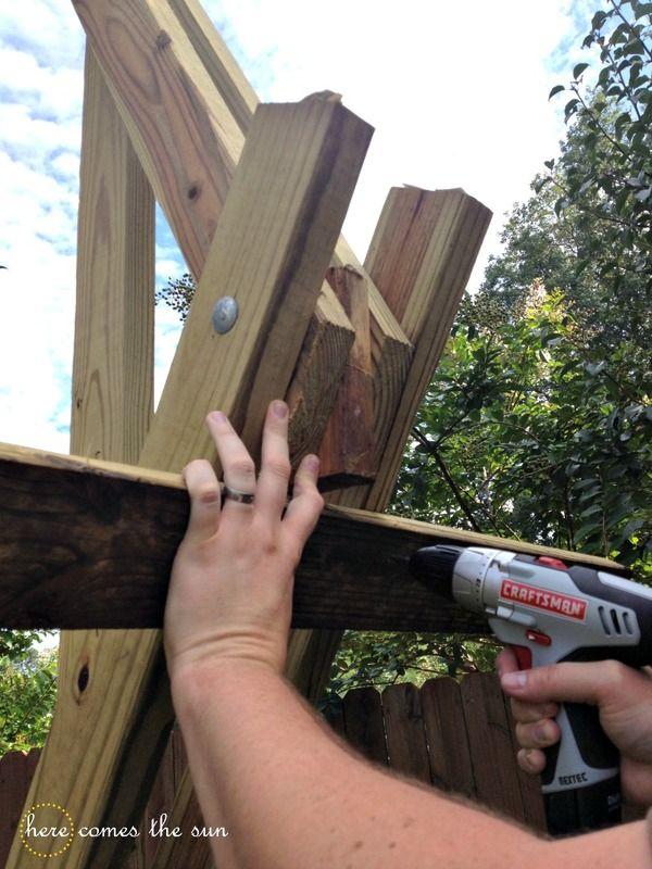 Make This Build A Diy Hammock Stand This Weekend Decoracion Facil Del Hogar Hamacas Estructuras De Madera