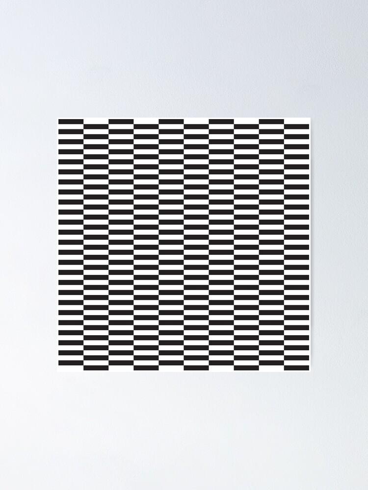 Displaced Lines Monochrome Op Art Pattern Poster By Kallyfactory Pattern Art Op Art Art