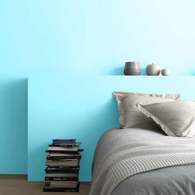 Peinture Murs et boiseries Lagon bleu Satin 0,75L - CASTORAMA - peindre plafond salle de bain