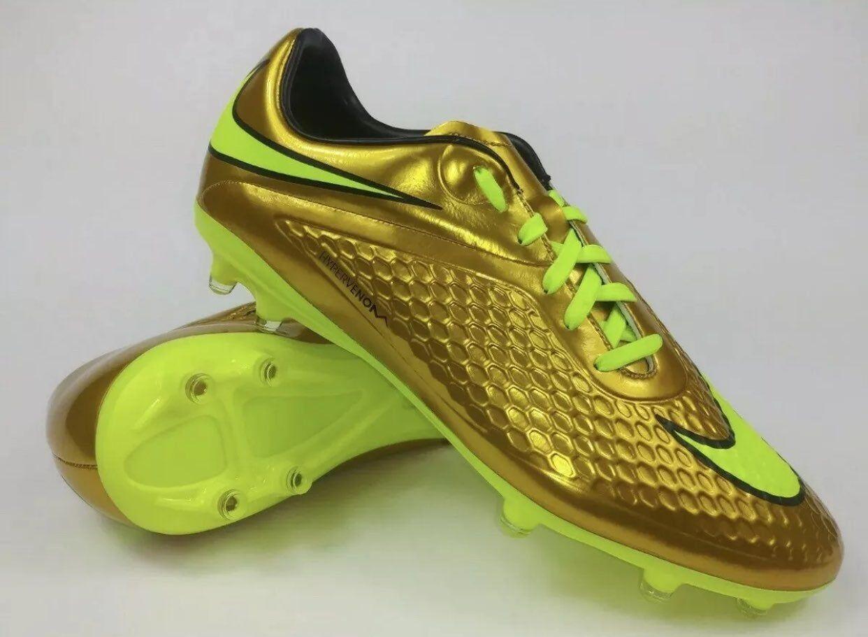 Brand new rare gold nike neymar jr hypervenom phelon prem