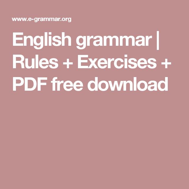 english grammar exercises pdf free download