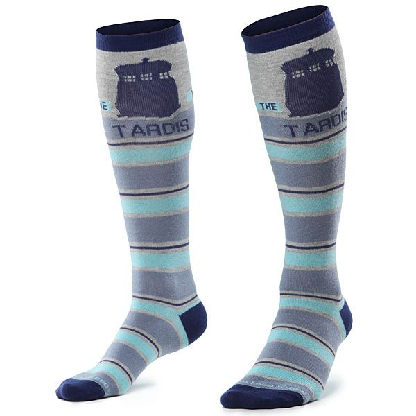 Tardis socks (Dalek socks available also)