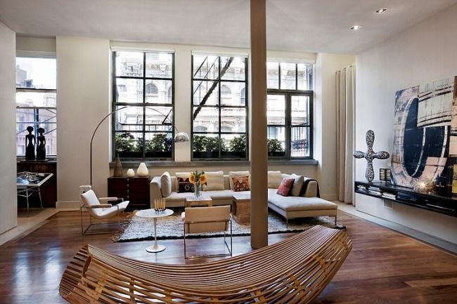 Wohnzimmer gestalten modern dielenboden dekorationen ideen möbel ...