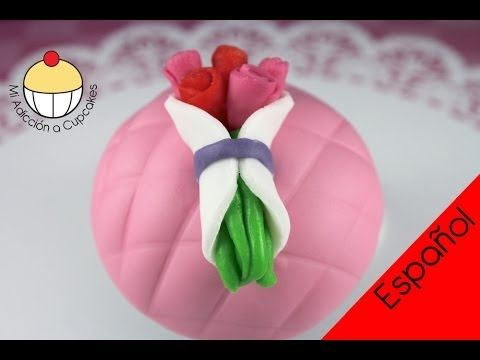 ¡Cupcakes de Flores! ¡Haz un Mini Ramo de Flores de Chocolate!