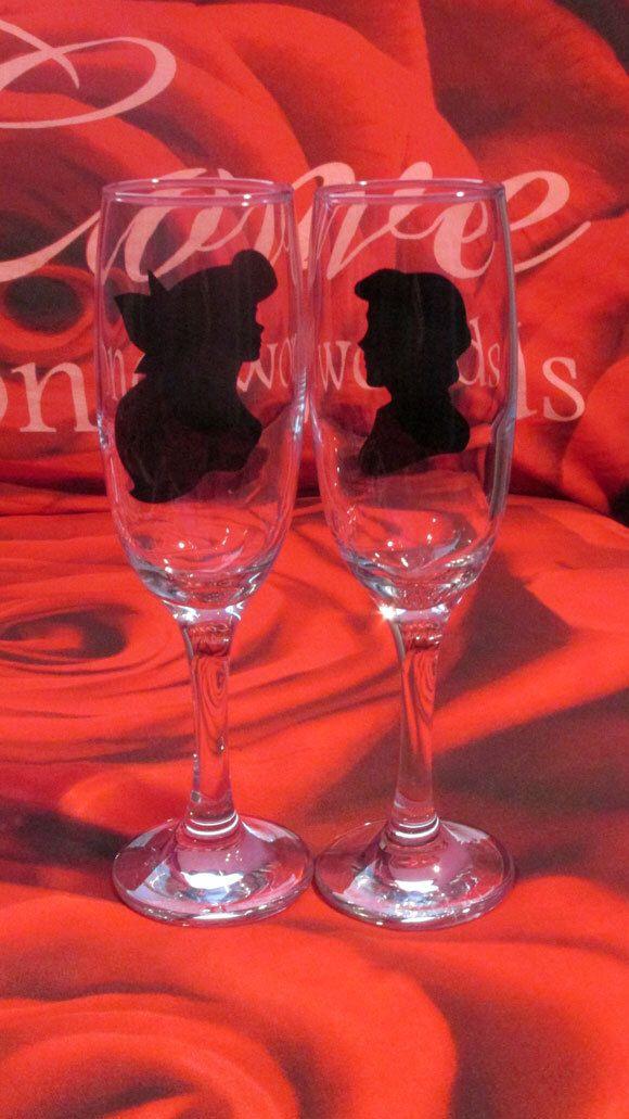 Personalised Ariel Amp Eric Glasses Gift Boxed Wedding Gift Wedding