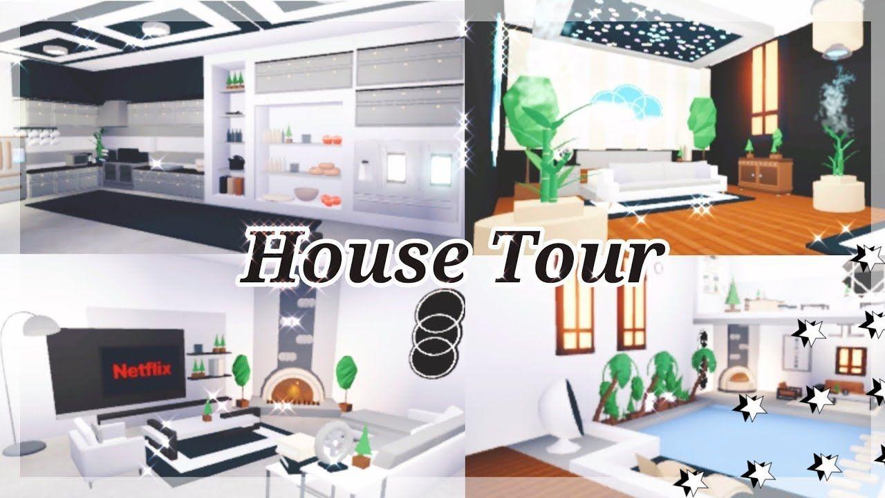 Modern Futuristic House Tour Roblox Adopt Me Attanasio Youtube Futuristic Home House My Home Design
