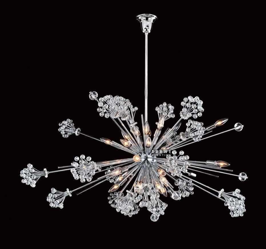 Elk Lighting Pierre: Chandelier With Clear Crystal