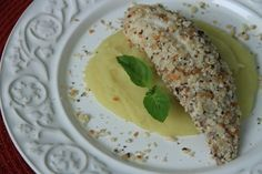 RECEITA THERMOMIX: Peixe em crosta de castanha do Pará com purê de batata doce com leite de coco