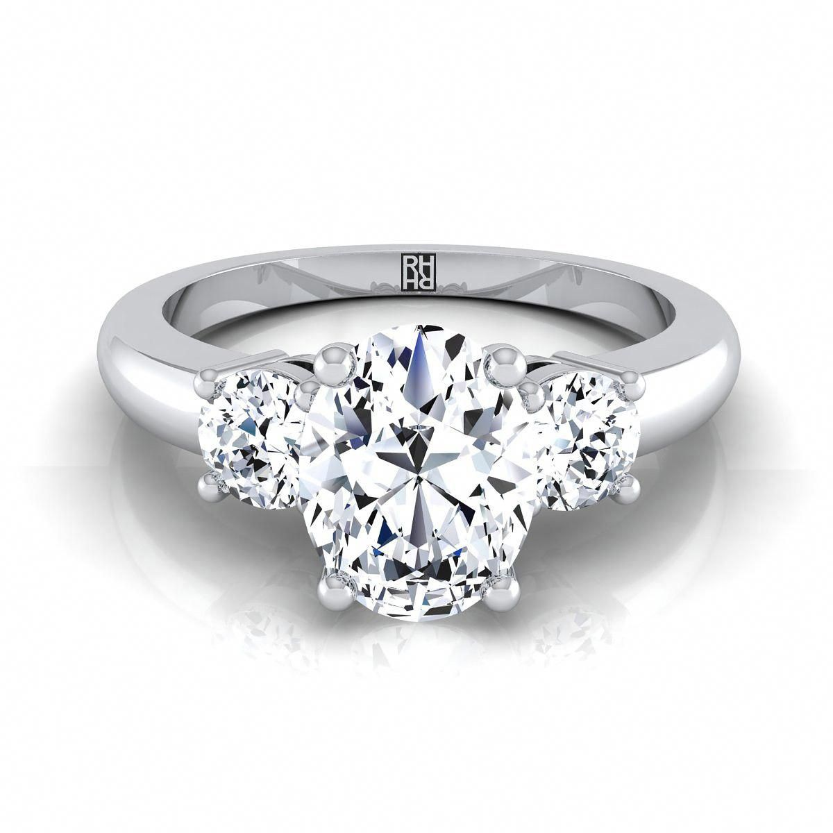 26++ Three stone oval engagement ring with wedding band information
