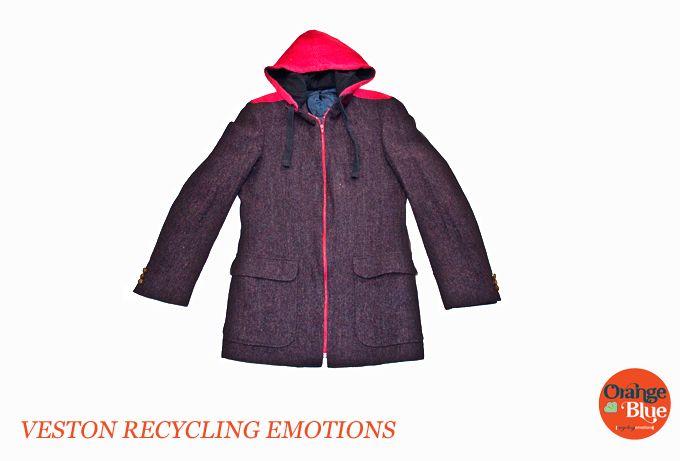 Vestón colección Recycling Emotions www.orangeblue.cl