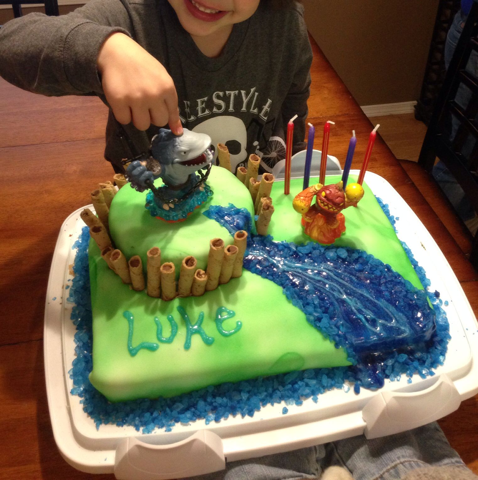 Skylanders cake for Lukes 5th My Finished Projects Pinterest
