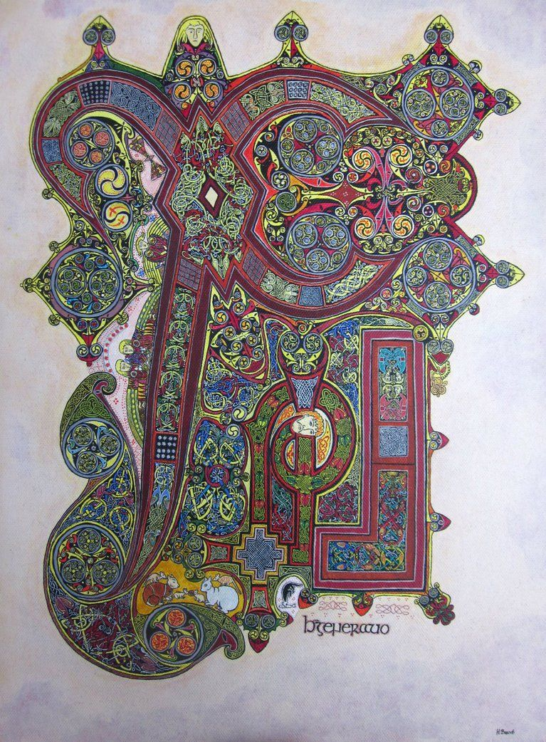 Book Of Kells , folio 34r by nikeyvv on DeviantArt