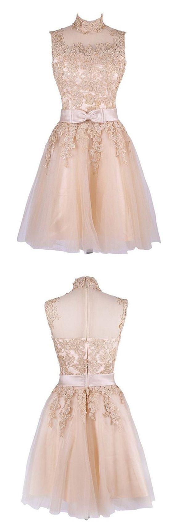 Lace prom dressshort prom dressfashion homecoming dresssexy party