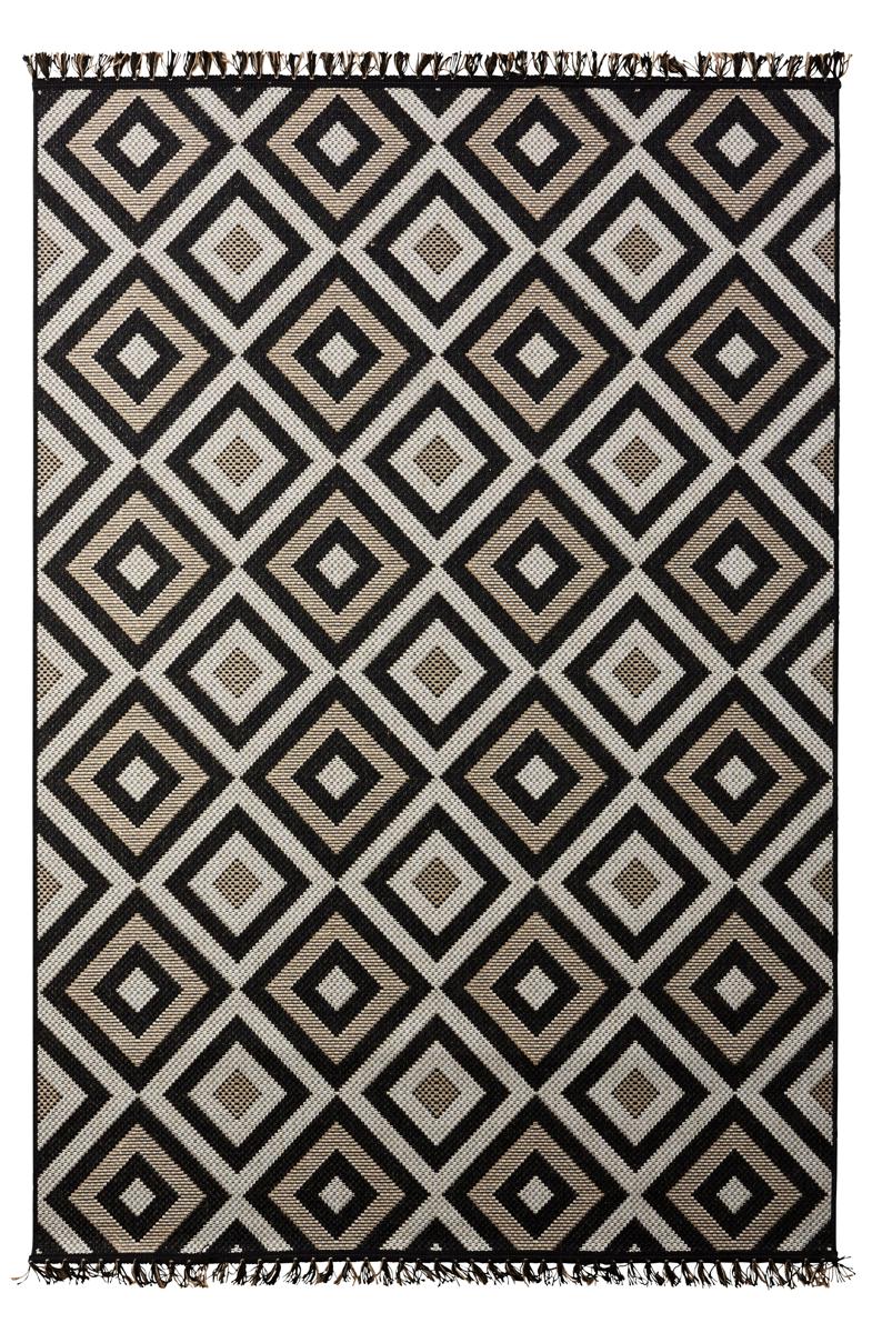 tapis 160x230 cm viaggio noir tapis
