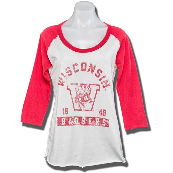 The Original Retro Brand Women's Baseball Shirt (Cream/Red)