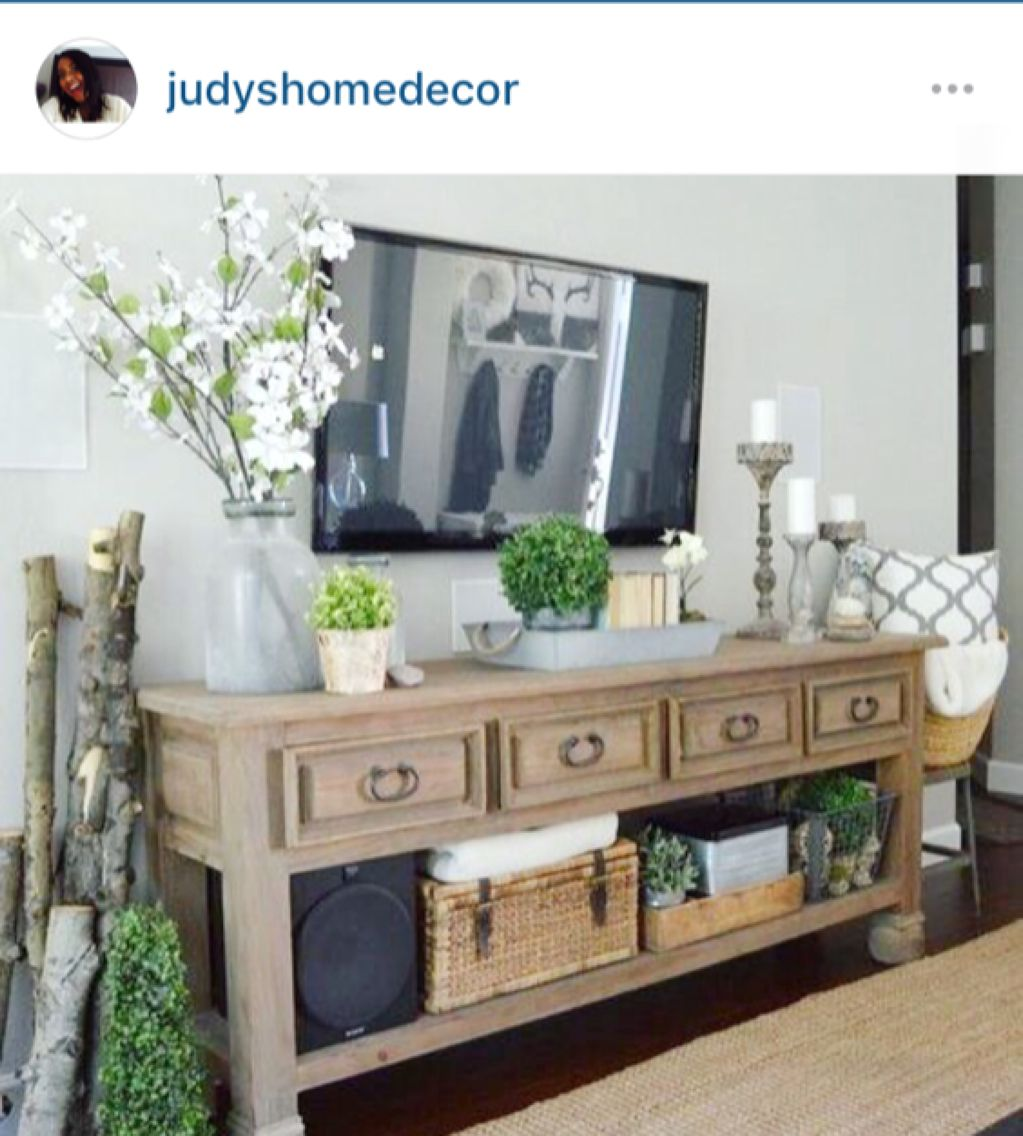 Tv Stand Decor Ideas For Decorating Around The Tv Homes Pinterest