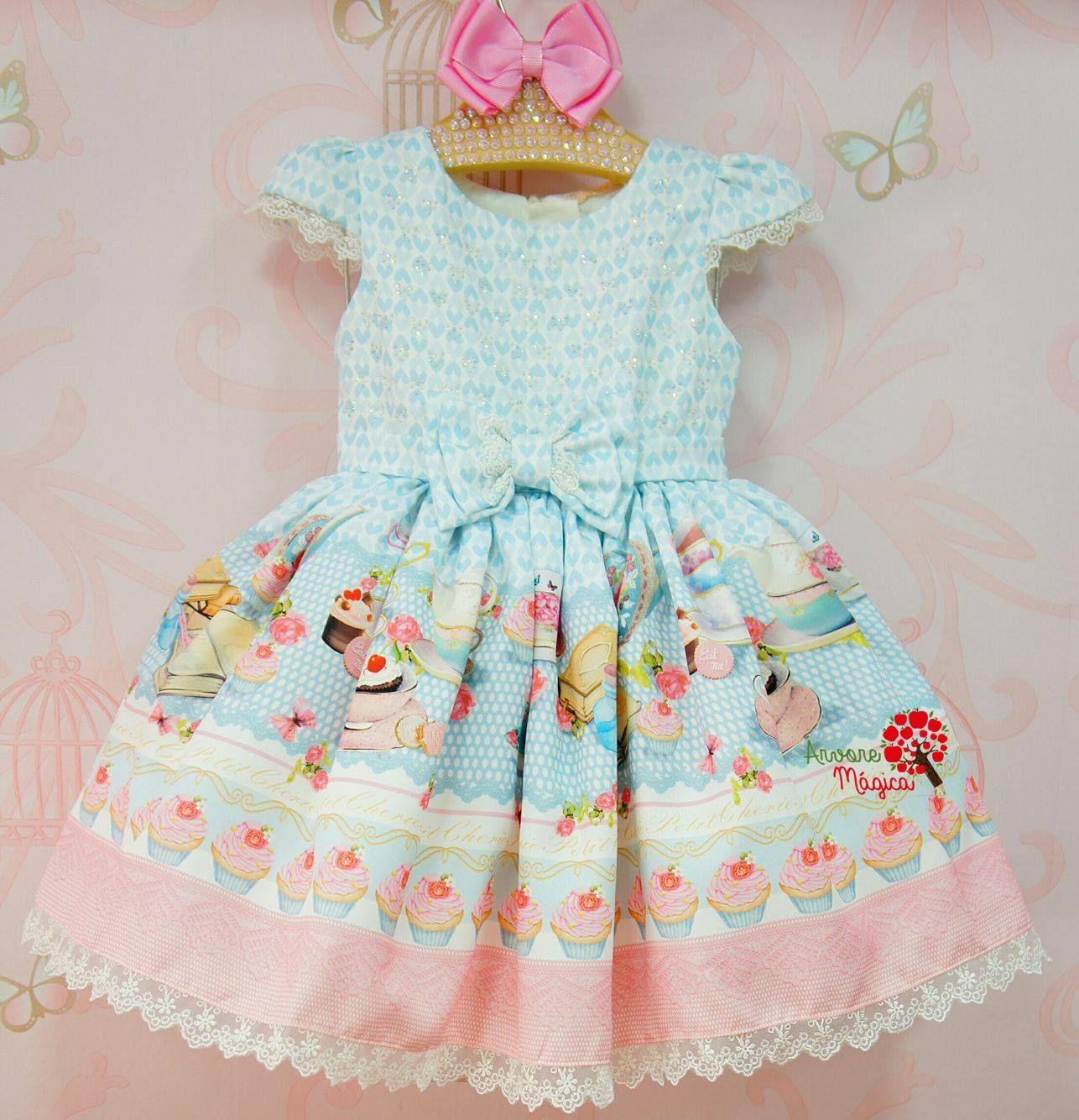 6b7c364f83 Vestido de Festa Infantil Confeitaria Petit Cherie Kids Outfits Girls