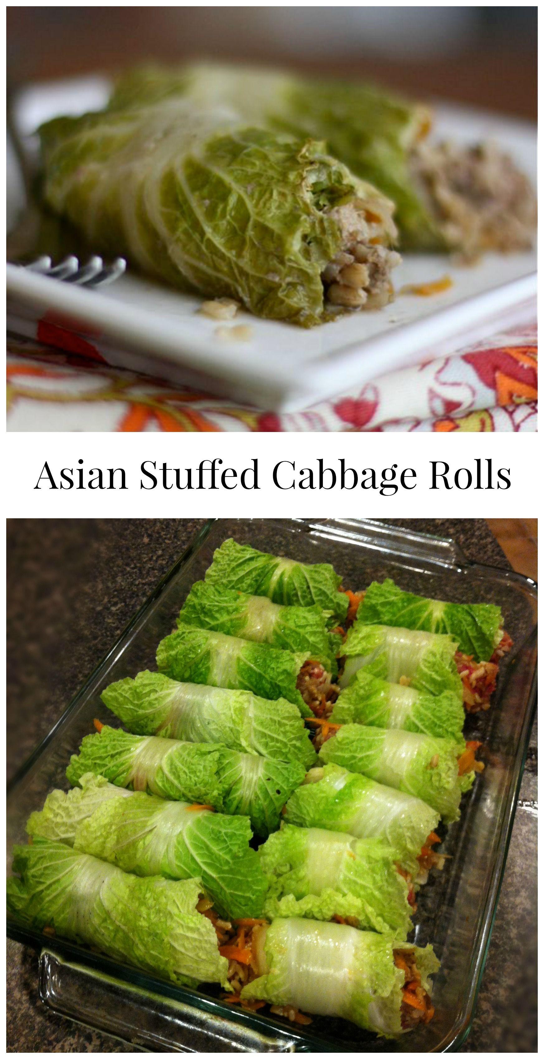 Asian stuffed napa cabbage rolls recipe food recipes